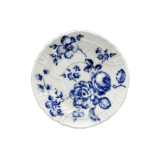 Richard Ginori Rose Blue Coffee Saucer 15cm